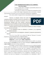 Medici. Obligaciones Del Representante Sindical