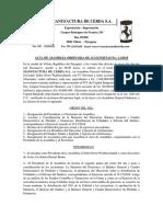 Acta de Asamblea Ordinaria de Accionistas No. 11-2019