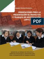 Manual para la presentacion de trabajos finales, tesis, y otros