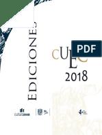 CATÁLOGO EDICIONES CUEC UNAM 2018