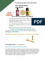 Tratament Natural Pentru Pori Deschisi
