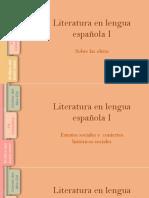 Literatura en Lengua Española I