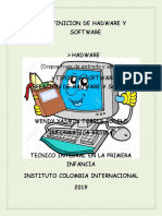 Definicion de Hadware y Software