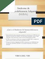 Síndrome de Inmunodeficiencia Adquirido - Datos Generales
