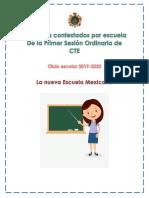 PRODUCTOS CONTESTADOS Primera Sesión Ordinaria CTE Octubre