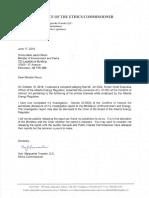 Report Ethics Commissioner 2019