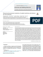 Thermal and Mechanical Evaluations of Asphalt Emulsions and Mixtures of Microsurfacing