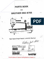 Brother BD-B755 parts book