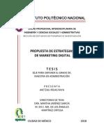 PROPUESTA DE ESTRATEGIAS DE MARKETING DIGITAL