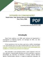 comunicação ou extensão