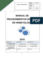 Manual de Procedimientos de Hematologia