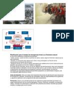 Planificación Para El Manejo de Emergencias Frente a Un Fenómeno Natura1