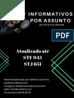 Informativos por assunto - de 2016 até 06.08.2019