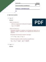 Ejercicios Resueltos de Ecuaciones Logarítmicas