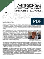Declaration Sur l Antisionisme