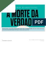 KAKUTANI, Michiko - A Morte Da Verdade (2 Capítulos) PDF (MELHOR)