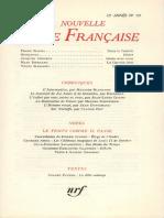 La nouvelle revue francaise n°137 mai-1964