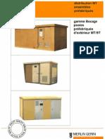 Catalogue Merlin Gerin - Distribution MT, Postes Préfabriqués - 1991