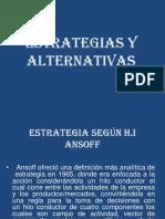 Estrategias y Alternativas