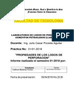 Informe Nº 1 de Lab. de Lodos de Perforacion