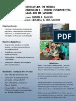Pôster RENAN L. BALZAN - ESTÁGIO 1 - licenciatura em música