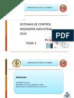 Tema 3 Sistemas de Control Error en Estado Estacionario 2019