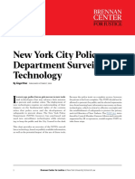 New York City Police Department Surveillance Technology