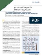 Increase crude unit capacity through better integration