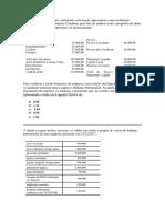 Exercicio Analise Financeira