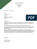ejemplo de carta de filitación