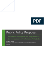Public policy proposal