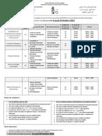 Placard Publicitaire - Concours Doctorat LMD 2014-2015
