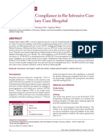Hand Hygiene Compliance in the Intensive Care