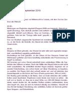 Philosophisches Tagebuch, September 2019