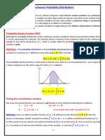 Continuous Probability Distribution.