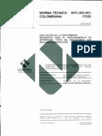 NTC 17020:2012