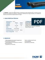 Ficha técnica NTP ISO 1452 UNIÓN FLEXIBLE AGUA A PRESIÓN