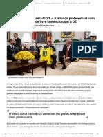 Artigo_ O Brasil Do Século 21 – a Aliança Preferencial Com Os EUA e o Acordo de Livre Comércio Com a UE