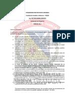 PARCIAL 1 Evaluación de Proyectos I.2019