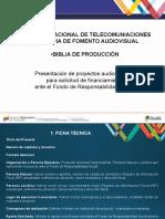 Biblia de Producción Audiovisual, Conatel