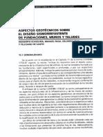 Aspectos Geotécnicos Sobre Diseño Sismorresistente de Fundaciones-Muros y Taludes