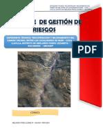 Informe Gestion de Riesgo Carretera  LLACLLA