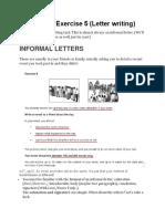 05 Writing Exercise 5 (Letter Writing)