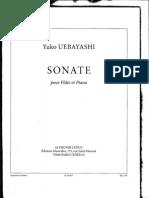 Yuko Uebayashi Sonate for Flute and Piano Score