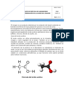 Informe de laboratorio ácido acético