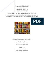 Proyecto Conservación y Preparación de Alimentos