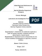 Extraccion y Cromatografia Chile Guajillo