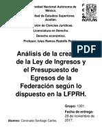 Analisis de La Creacion Del Presupuesto 2017