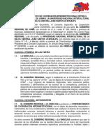 Convenio Especifico de Cooperación Interinstitucional Entre El Gobierno Regional de Junín y La Universidad Nacional Intercultural de La Selva Central Juan Santos Atahualpa