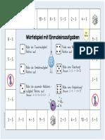 Einmaleinsstreifen - Würfelspiel. (Juego de tablas multiplicar)